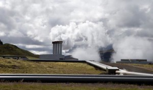 The Hellisheidi Geothermal Plant near Reykjavik, Iceland on August 14, 2015. The plant produces 303 MW elecricity and 133 MW thermal energy and supplies electricity and heating mostly to Reykjavik and area. (AP Photo/Larry MacDougal)